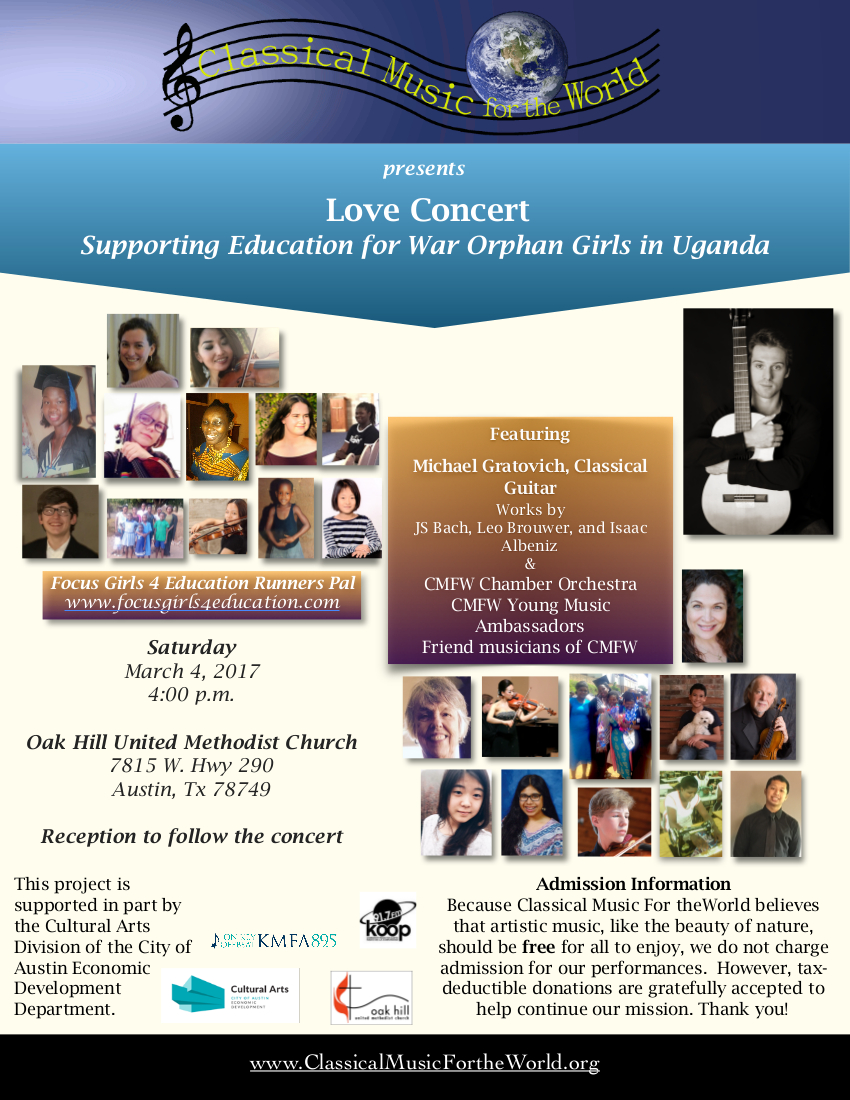 Love Concert 2017 flyer